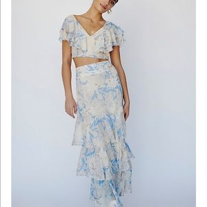 FREE PEOPLE CO ORD SET FLORAL BEAUTIFUL NWT